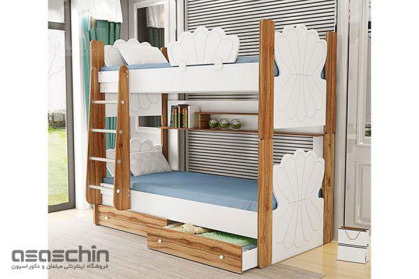 تخت خواب دو طبقه صدف
