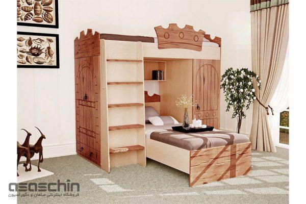 تخت خواب دو طبقه قلعه