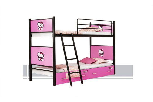 تخت خواب دو طبقه مارکدار