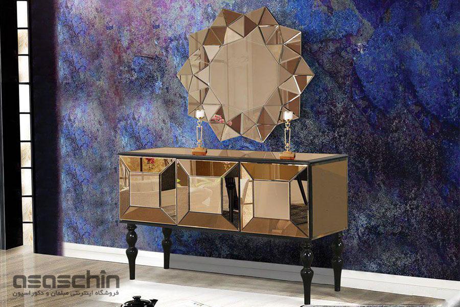 میز کنسول و آینه ملورین
