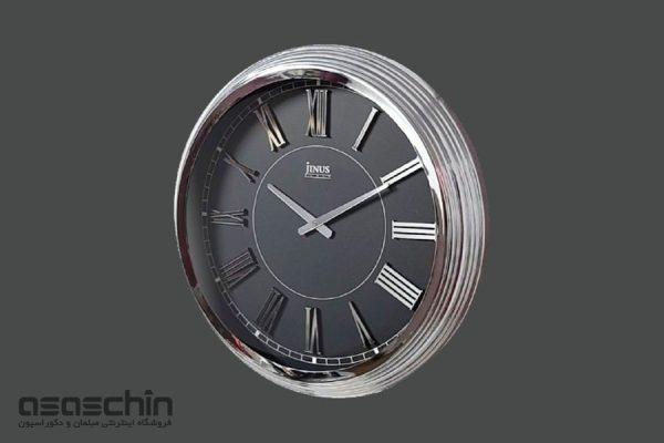 ساعت دیواری ژینوس نقره ای