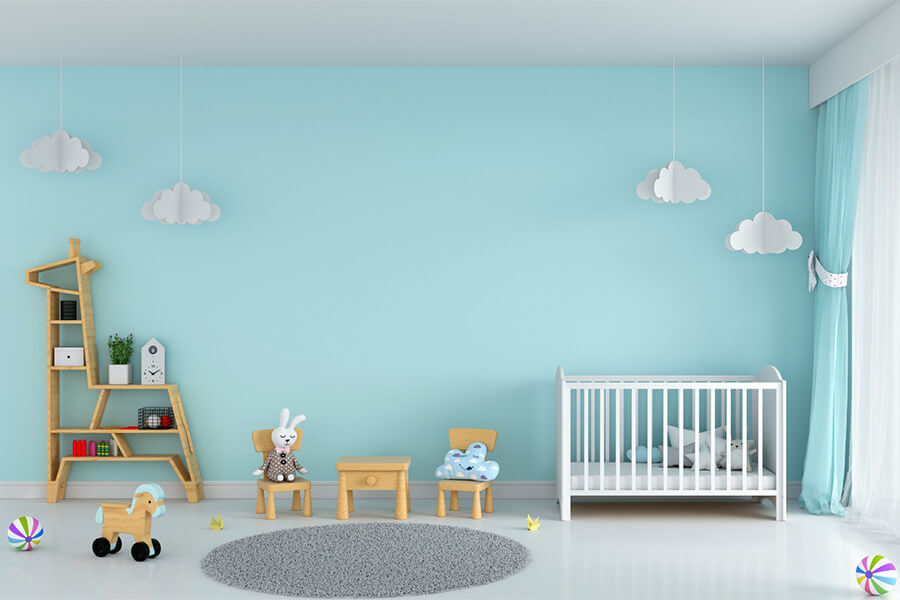 انتخاب کاغذ دیواری مناسب اتاق کودک